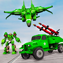 Army Truck Robot Game – Missile Jet Robot Car Game