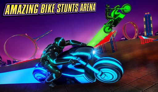 Light Bike Stunt Racing Game 18 Screenshots 8