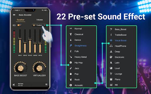 Equalizer -- Bass Booster & Volume EQ &Virtualizer 1.5.3 Screenshots 12
