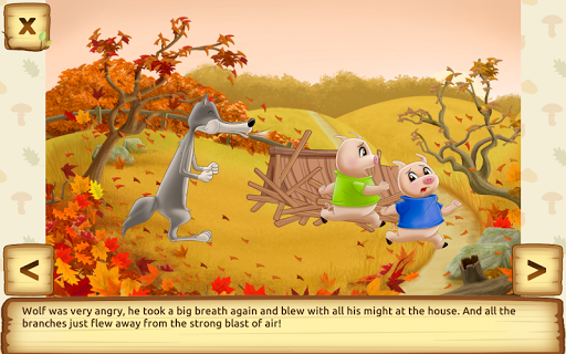 Three Little Pigs - Fairy Tale with Games apkdebit screenshots 14