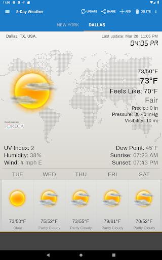 Weather & Clock Widget for Android screenshots 10