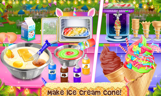 Ice Cream - Frozen Desserts Rainbow Unicorn  screenshots 2