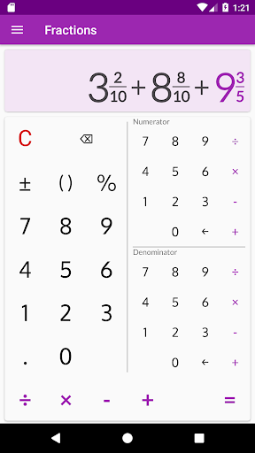 Fractions - calculate and compare 2.18 Screenshots 4