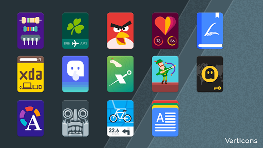 Download APK: VertIcons Icon Pack v2.1.7 [Patched]