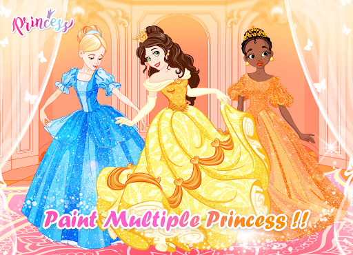 Princess Coloring Book: Special Color by Number 1.5.7 screenshots 3
