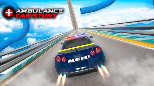 Ambulance Car Stunt Games: Mega Ramp Car Games screenshots 1