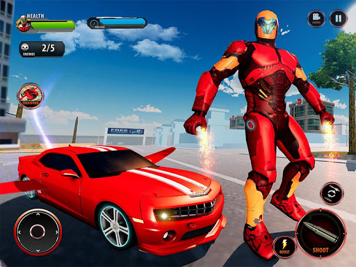 Flying Robot Car Games - Robot Shooting Games 2020 2.1 screenshots 9
