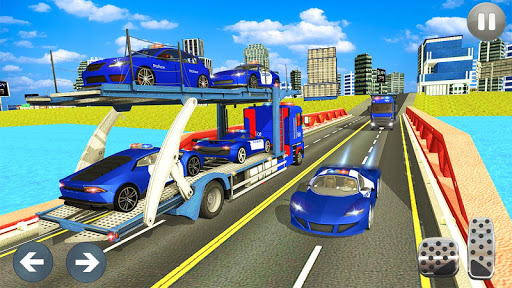 Police Car Transporter 3d: City Truck Driving Game 3.0 screenshots 5