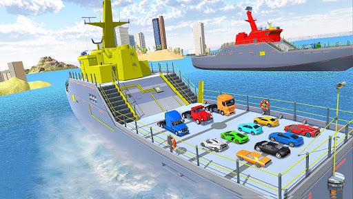 Code Triche Jeux transporteur de voiture: Jeux de camions APK MOD (Astuce) screenshots 3