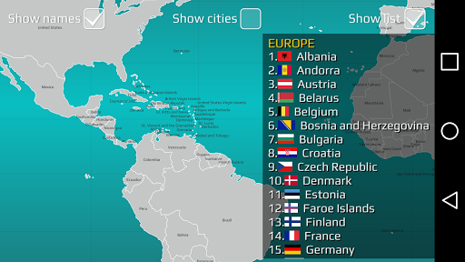 World Map Quiz 2.17 screenshots 16