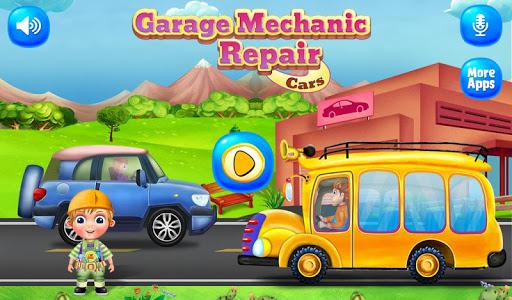 garage mechanic repair cars - vehicles kids game screenshot 1