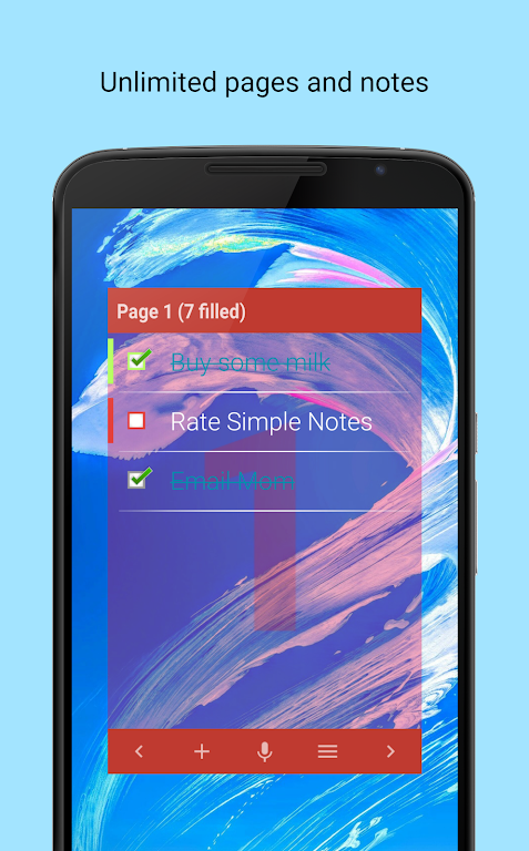 Simple Notes Widget  poster 1