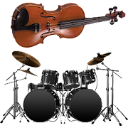 Violin and Drums: beat maker. Music maker