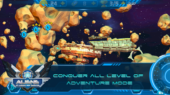 Aliens of Galaxy War Defends Game Hack Android and iOS 5