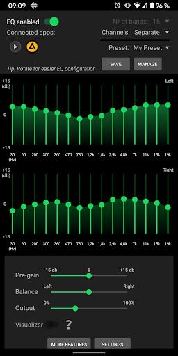 SpotEQ - 31 Band Equalizer For Left & Right Side 1.7.5 Screenshots 9