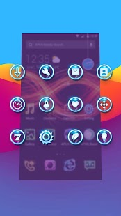 Shine Glitter Neon APUS stylish theme Screenshot