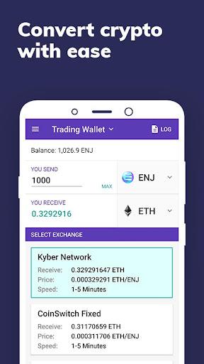 Enjin: Bitcoin, Ethereum, Blockchain Crypto Wallet 1.11.1-r Screenshots 4