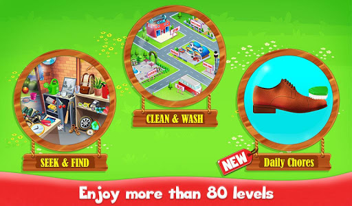Big Home Cleanup and Wash : House Cleaning Game modiapk screenshots 1
