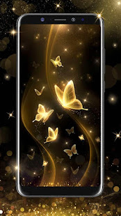 Gold Butterfly Live Wallpaper