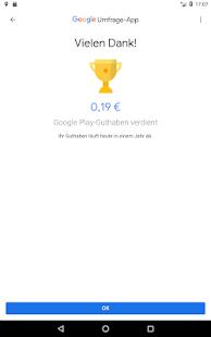 Google Umfrage-App Screenshot