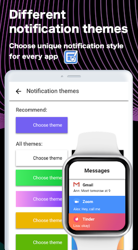 SmartWatch sync app for android&Bluetooth notifier  Screenshots 7