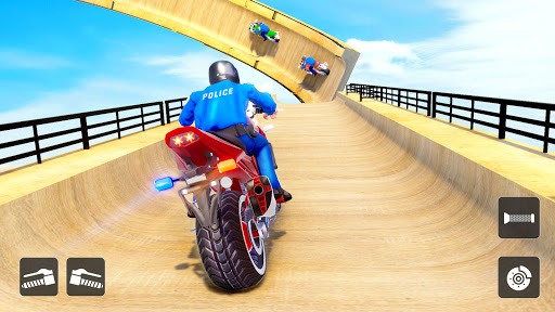 Police Bike Stunt Games: Mega Ramp Stunts Game apkmartins screenshots 1