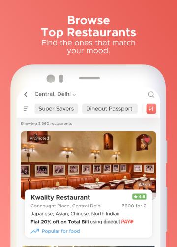 Dineout:Find Restaurants, Deals & Assured Cashback 9.9.8 Screenshots 2