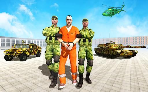 Offroad US Army Prisoner Transport: Criminal Games  screenshots 1