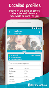 Free Dating & Flirt Chat - Choice of Love Screenshot