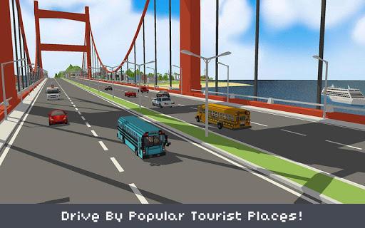 Blocky School Bus & City Bus Simulator Craft APK MOD Download 1