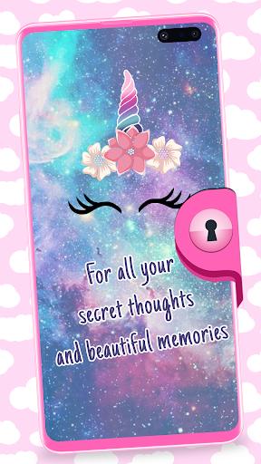 Unicorn Diary With Lock 1.4 screenshots 1