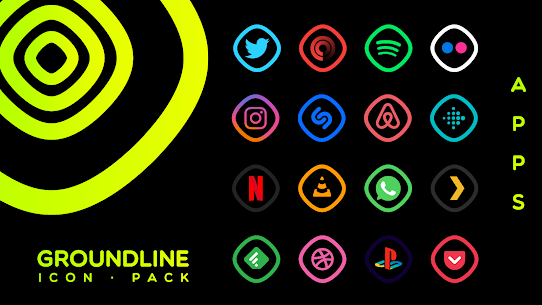 Groundline Icon Pack APK Paid 2