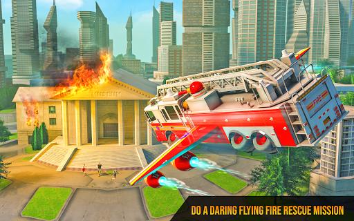 Flying Firefighter Truck Transform Robot Games 26 screenshots 5