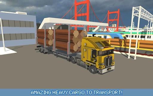 Blocky Truck Driver: Urban Transport 2.2 screenshots 3