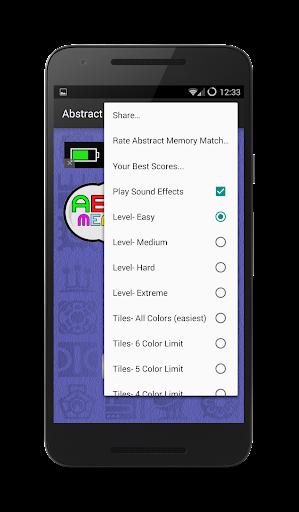 abstract memory match screenshot 2