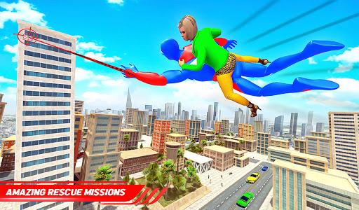 Flying Police Robot Rope Hero: Gangster Crime City  screenshots 15