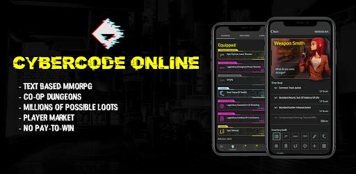 CyberCode Online   Cyberpunk Text Based MMO RPG Apkfinish screenshots 1