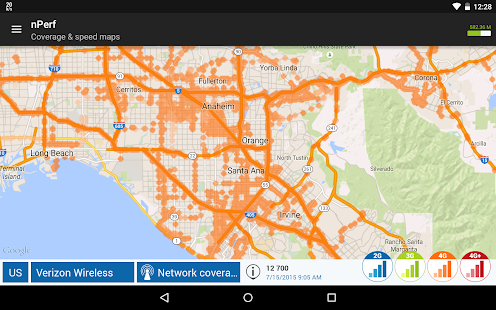 Speed test 3G, 4G, 5G, WiFi & network coverage map Screenshot