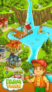 Farm Town  Happy farming Day  food farm game City Apk Download 2021 3