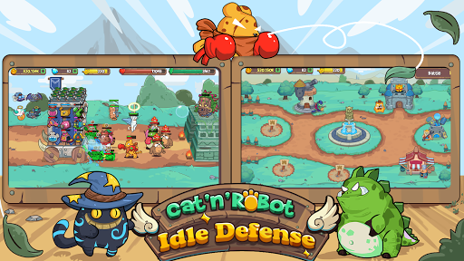 Cat'n'Robot: Idle Defense - Cute Castle TD PVP 3.1.2 screenshots 8