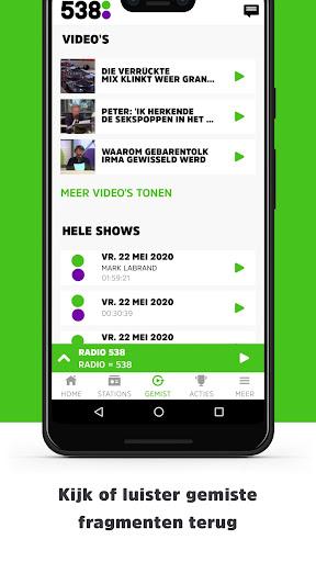 Radio 538 modavailable screenshots 4