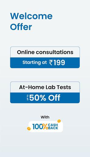 MFine- Online Doctor Consultation, Lab Test, Scans 1.6.5 screenshots 1