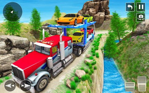 Crazy Car Transport Truck: Offroad Driving Game 8