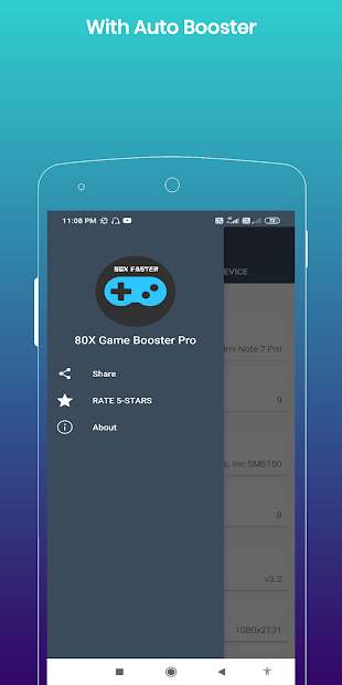 Captura de Pantalla 4 de 80X Game Booster Premium : Faster Performance para android