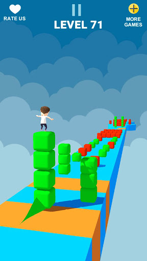 Cube Stacker Surfer 3D - Run Free Cube Jumper Game  screenshots 23