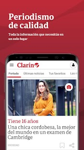 Clarín Screenshot