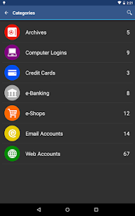 aWallet Password Manager Screenshot