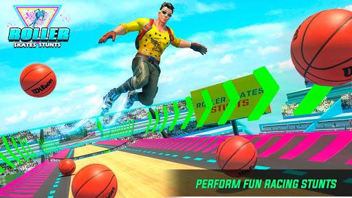 Sky Roller Skate Stunt Games 2021 - Roller Skating 2.1 screenshots 1
