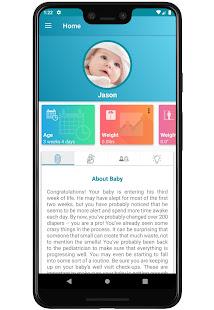 My Baby: Development Tracker App 0-12 Months Free 1.6 Screenshots 1