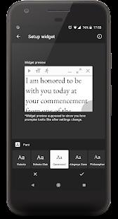 Oratory - teleprompter widget
